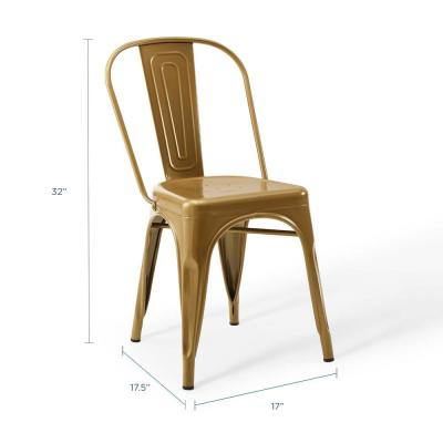 Promenade Bistro Gold Dining Side Chair (Set of 2)