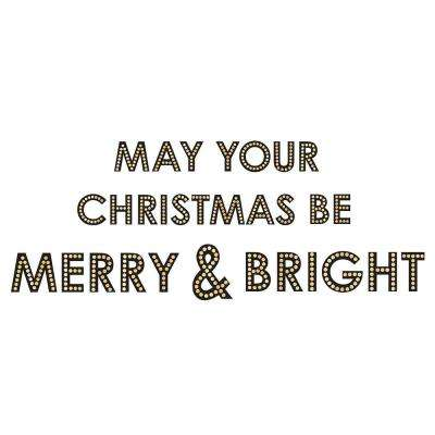 32 in. x 12 in. Merry and Bright Wall Quote