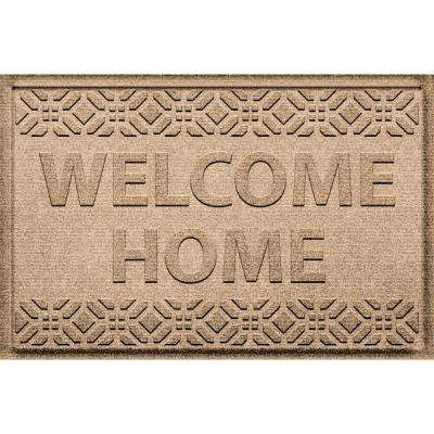 Welcome Home Camel 24 in. x 36 in. Polypropylene Doormat
