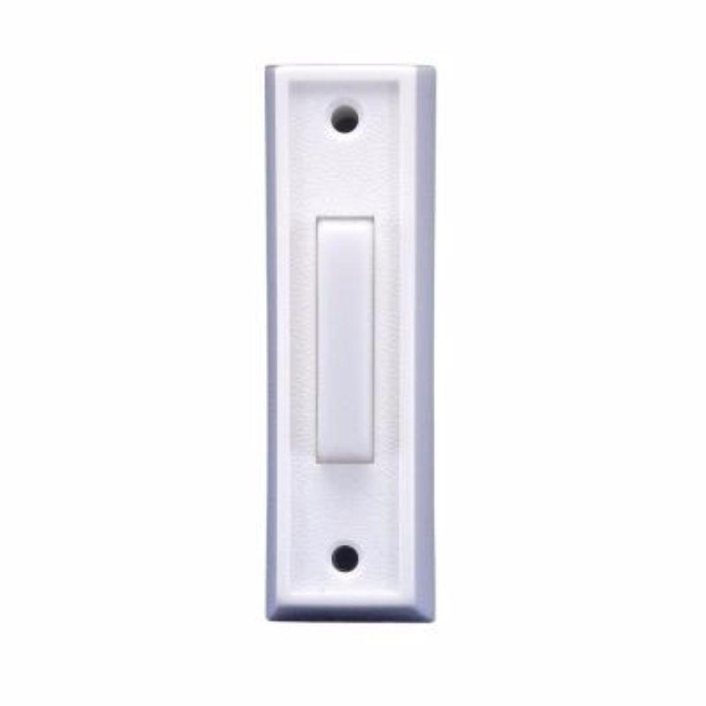 Wired Lighted Door Bell Push Button, Plastic White