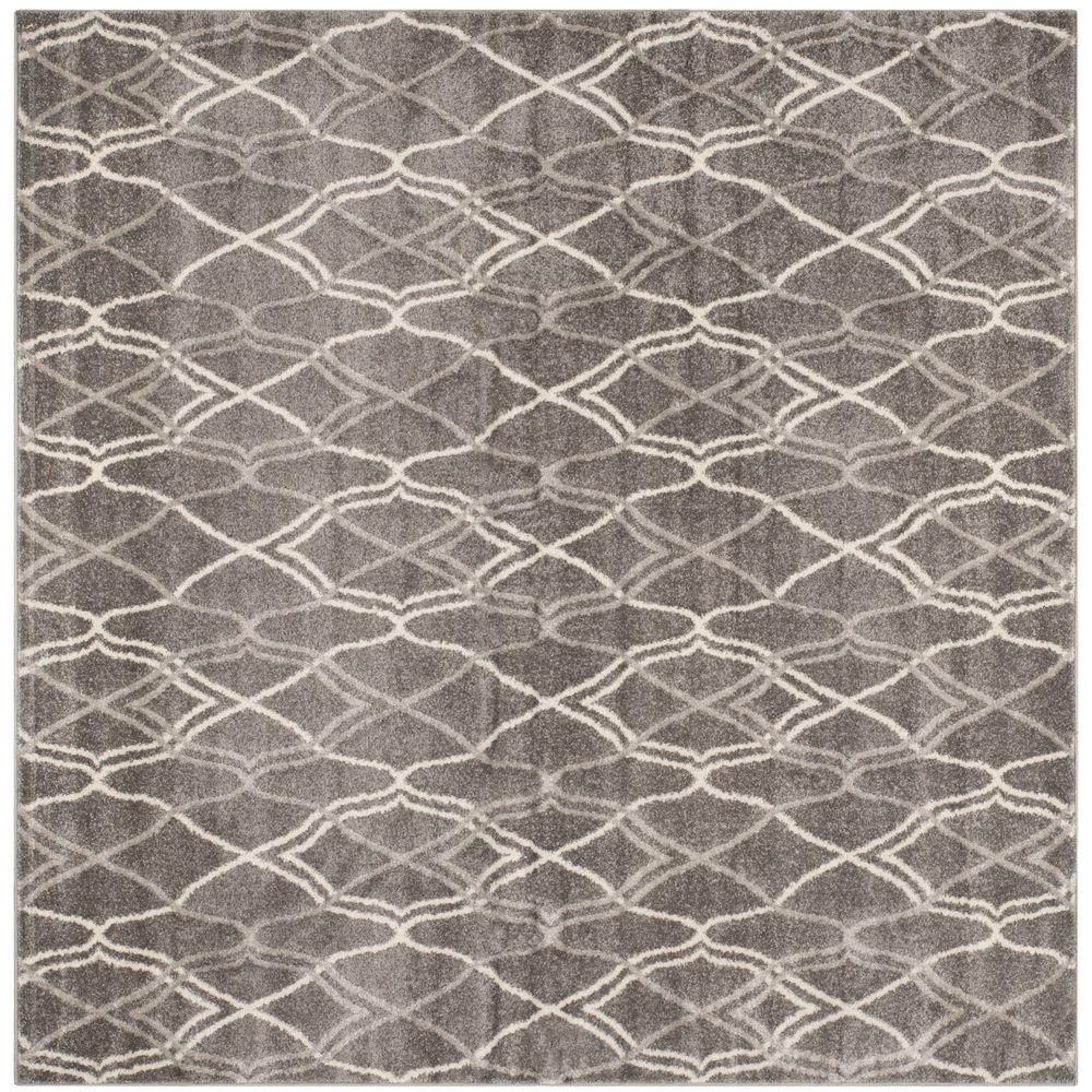 Amherst Gray/Light Gray 5 ft. x 5 ft. Indoor/Outdoor Square Area