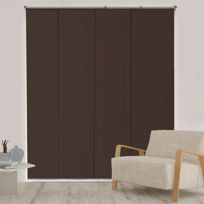Adjustable Sliding Panel / Cut to Length, Curtain Drape Vertical Blind, Thermal, Room Darkening - Mountain Chocolate