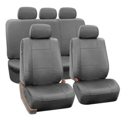Premium PU Leather 15 in. x 12 in. x 6 in. Full Set Seat Covers
