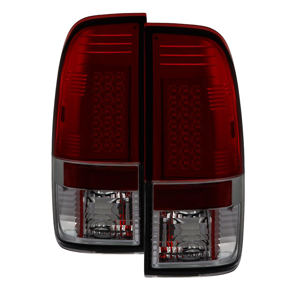 Ford F150 Styleside 97 03 F250 350 450 550 Super Duty 99 07 Led Tail Lights Red Smoke