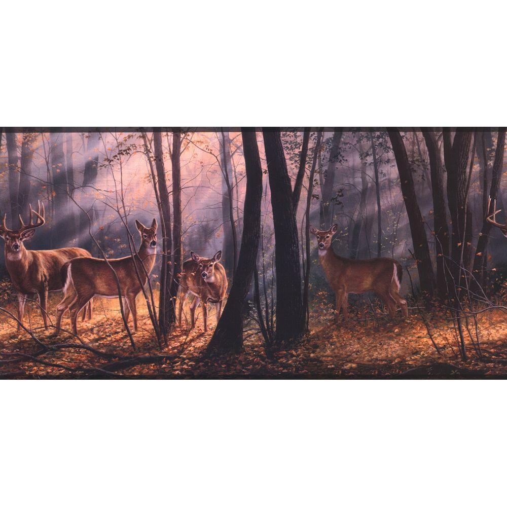 Lake Forest Lodge Woodland Splendor Wallpaper Border