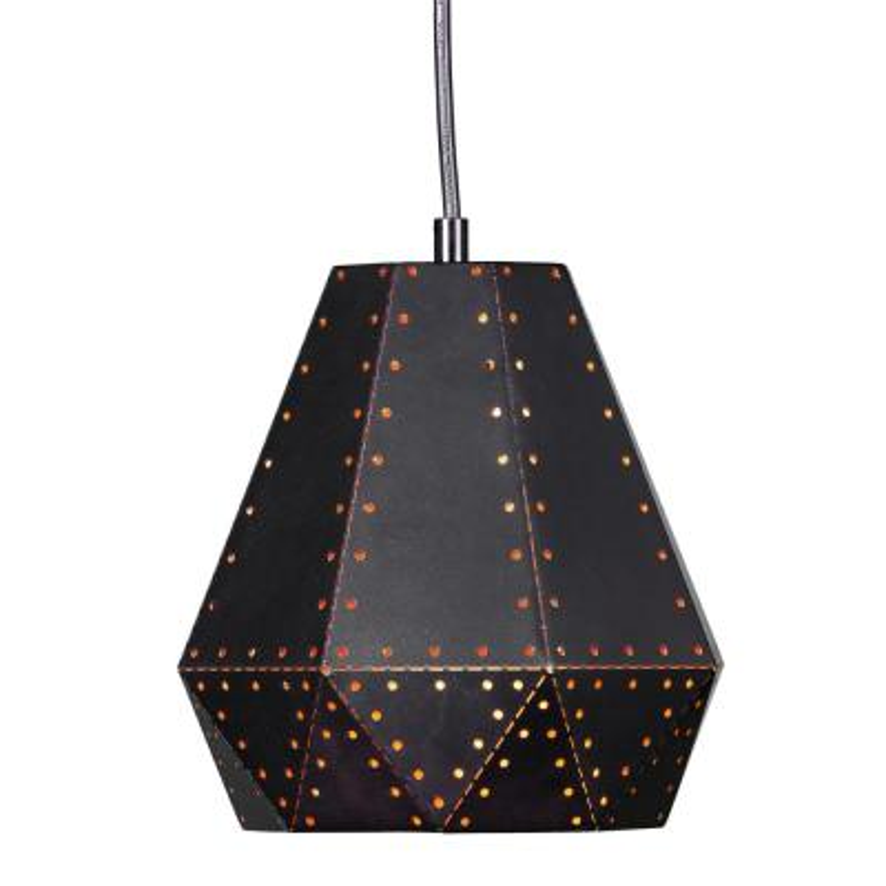 Hetland 1-Light Black Pendant Light