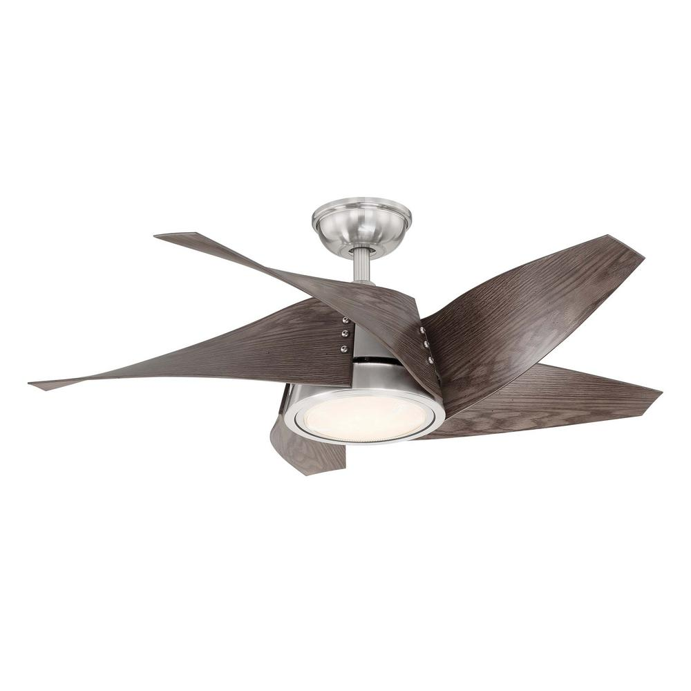 Home Decorators Collection Broughton 42 in. LED Brushed Nickel Ceiling on