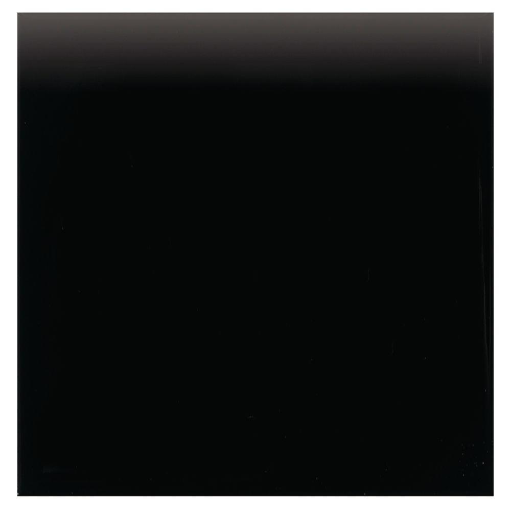 Semi-Gloss Matte Black 4-1/4 in. x 4-1/4 in. Ceramic Surface Bullnose