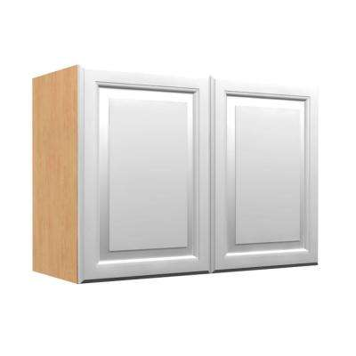 anzio wall cabinet with 2 soft close doors in polar