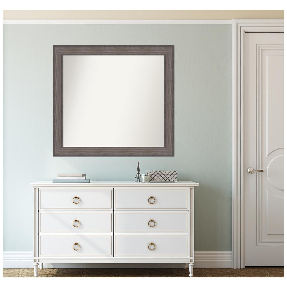 Amanti Art Custom Size 36.25 in. x 33.25 in. Country Barnwood Decorative Wall Mirror was $409.95 now $239.82 (42.0% off)