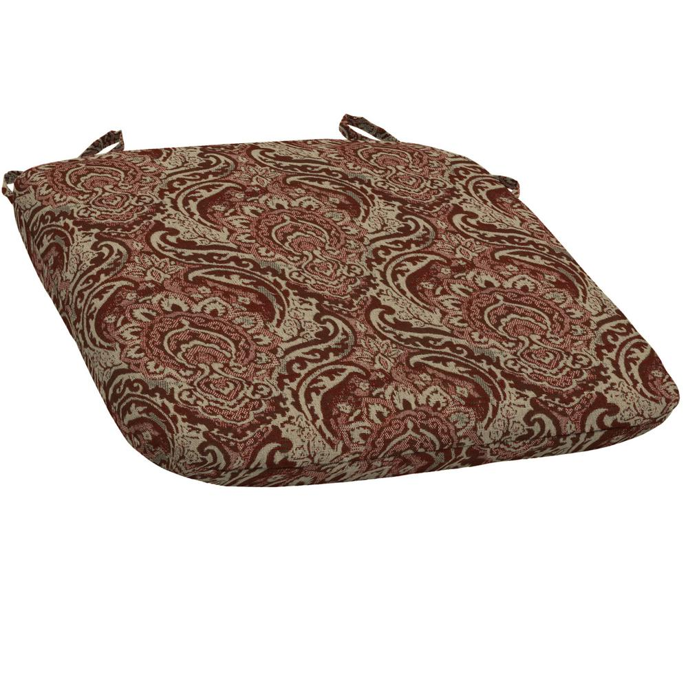 Venice Bistro Outdoor Seat Cushion (Pack of 2)