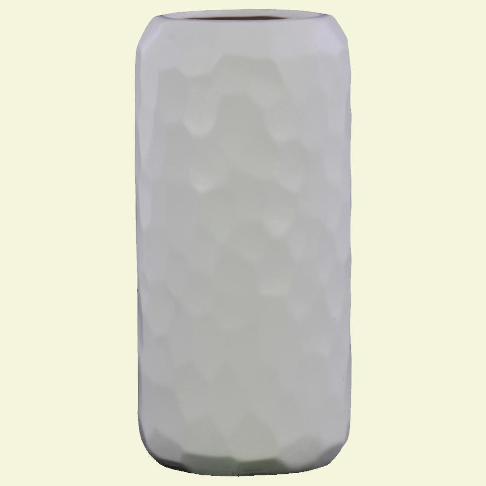 Urban Trends Collection White Matte Ceramic Decorative Vase
