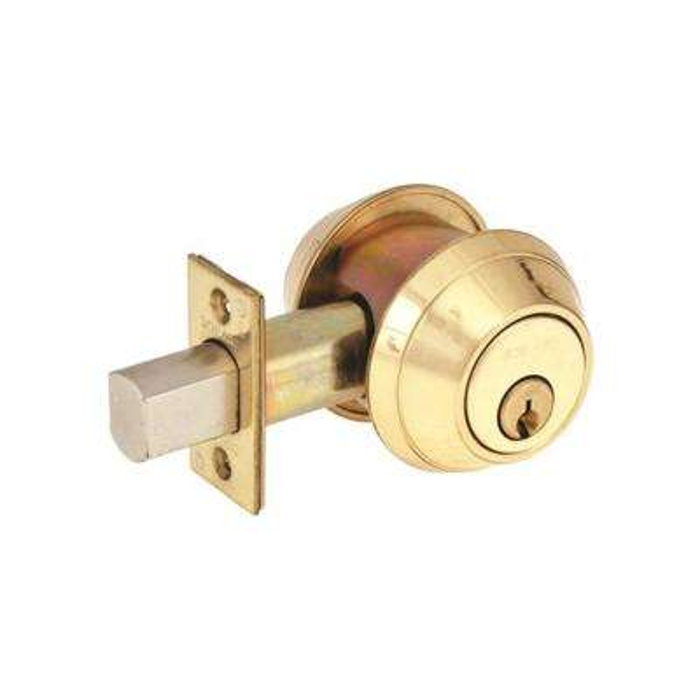 B Series Brass Single Cylinder Deadbolt Universal Fit