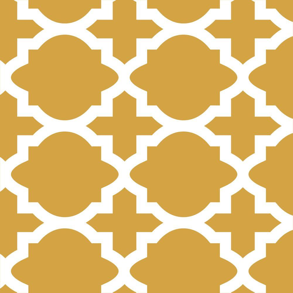 Stencil Ease Meknes Wall Painting Stencil - 19.5 in. x 19.5 in. Stencil Sheet