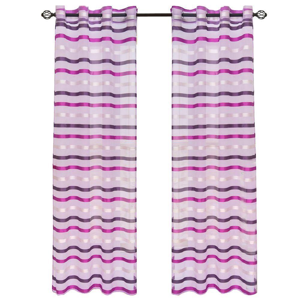Violet Sonya Grommet Curtain Panel, 84 in. Length