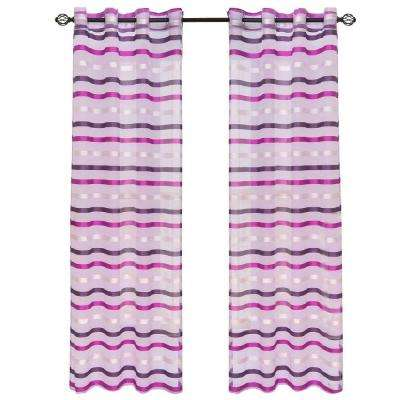 Violet Sonya Grommet Curtain Panel, 84 in. Length