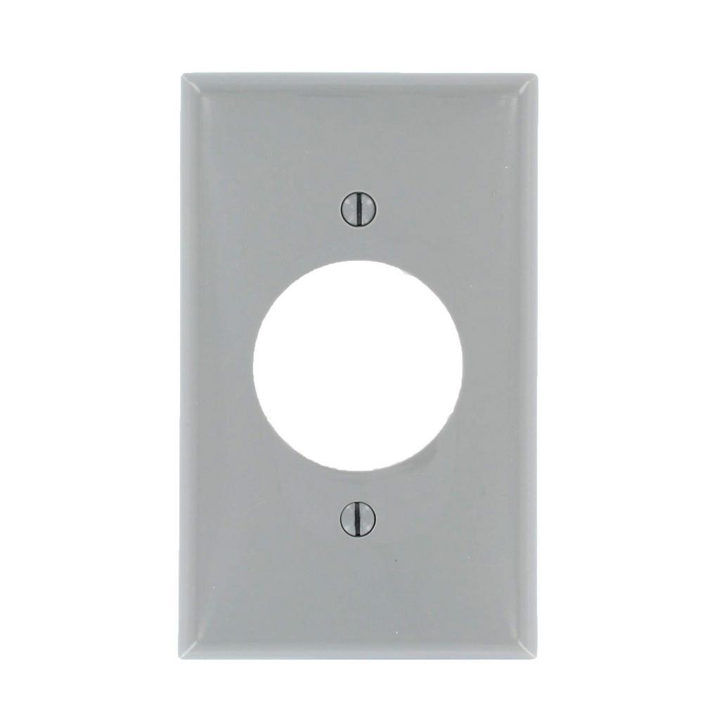 Leviton 1-Gang 1 Single Receptacle, Standard Size Nylon Wall Plate ...