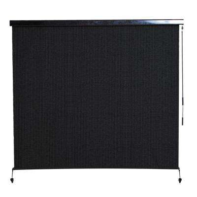 Montecito Cordless HDPE 95% UV Block Exterior Roller Shade with Full Cassette - 72 in. W x 96 in. L