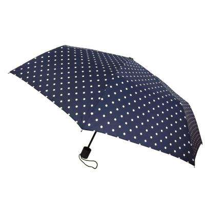 Kingstate Poka Dot Mini Manual Umbrella in Navy
