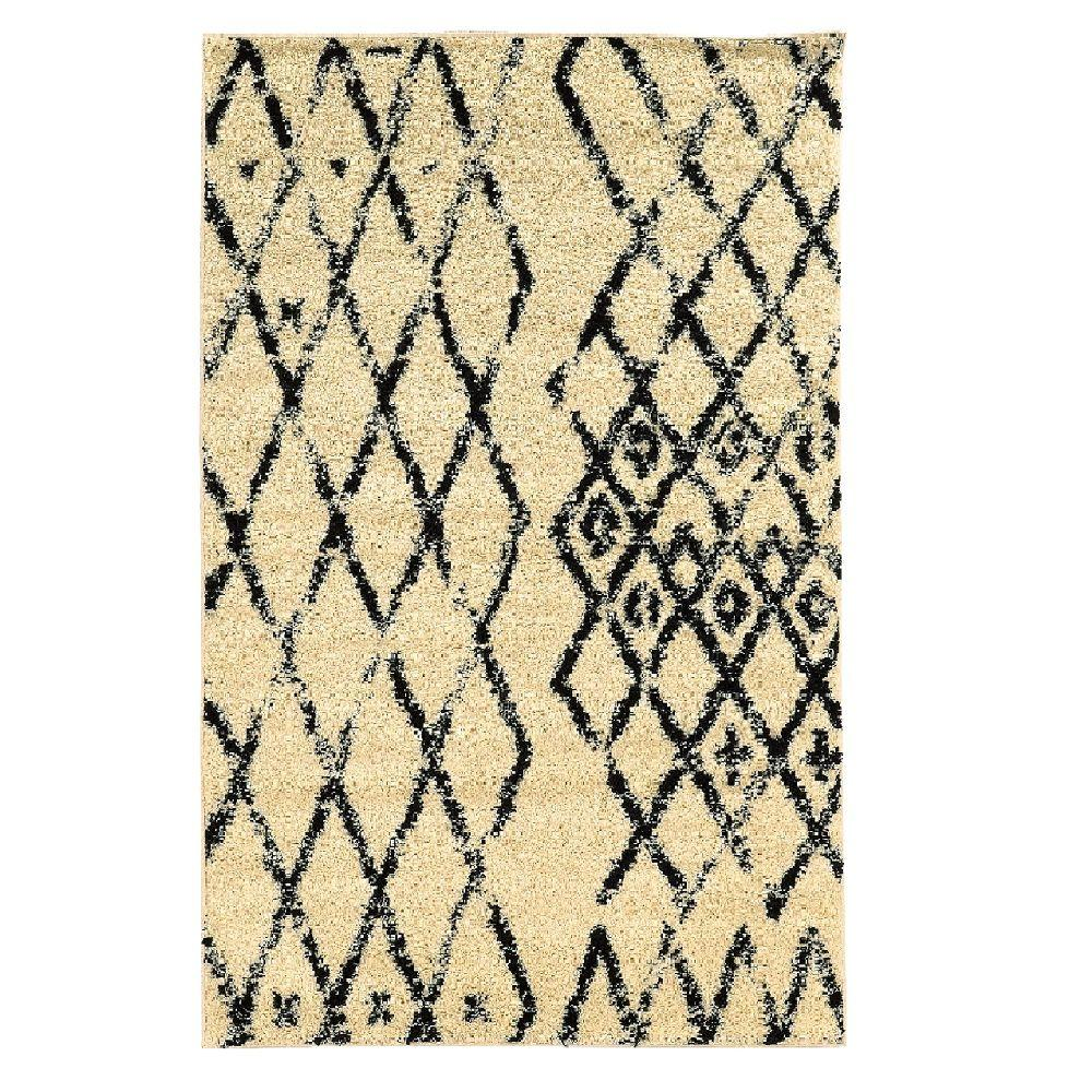 Moroccan Collection Marrakes Ivory and Black 5 ft. x 7 ft.