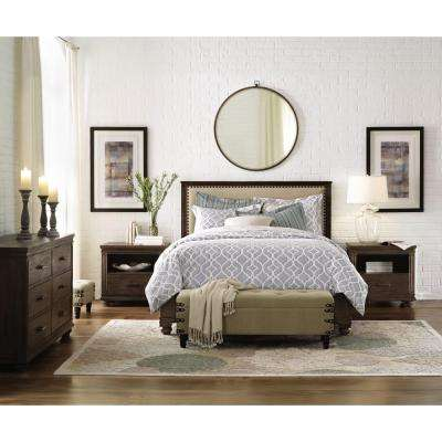 Cambridge Rustic Brown Queen Bed