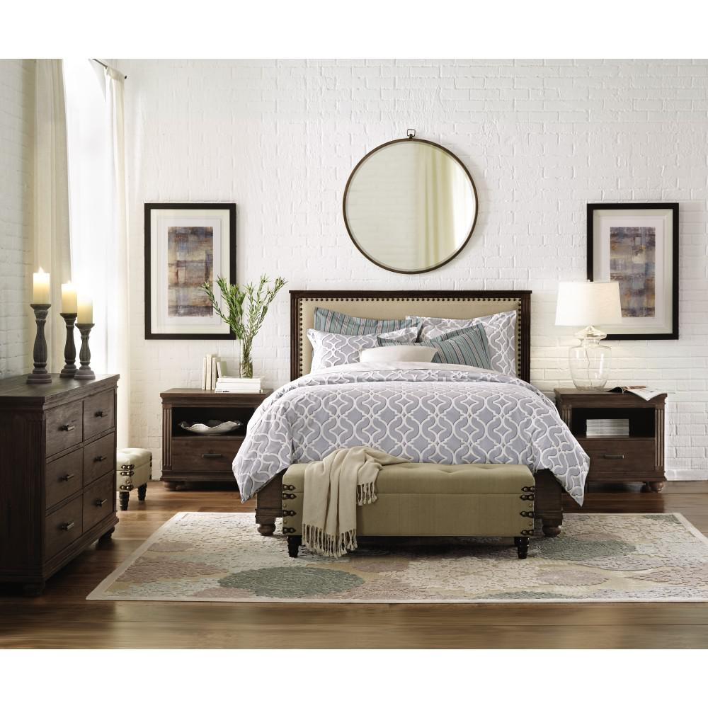 Cambridge Rustic Brown King Bed