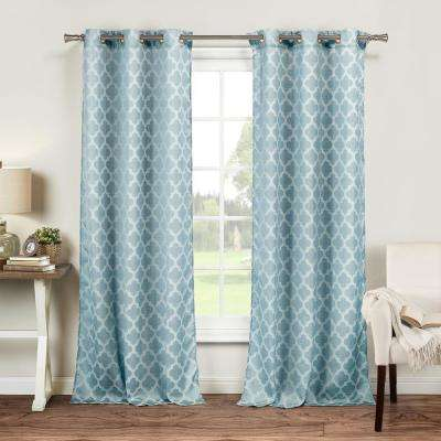 light blue curtains drapes window treatments the home depot