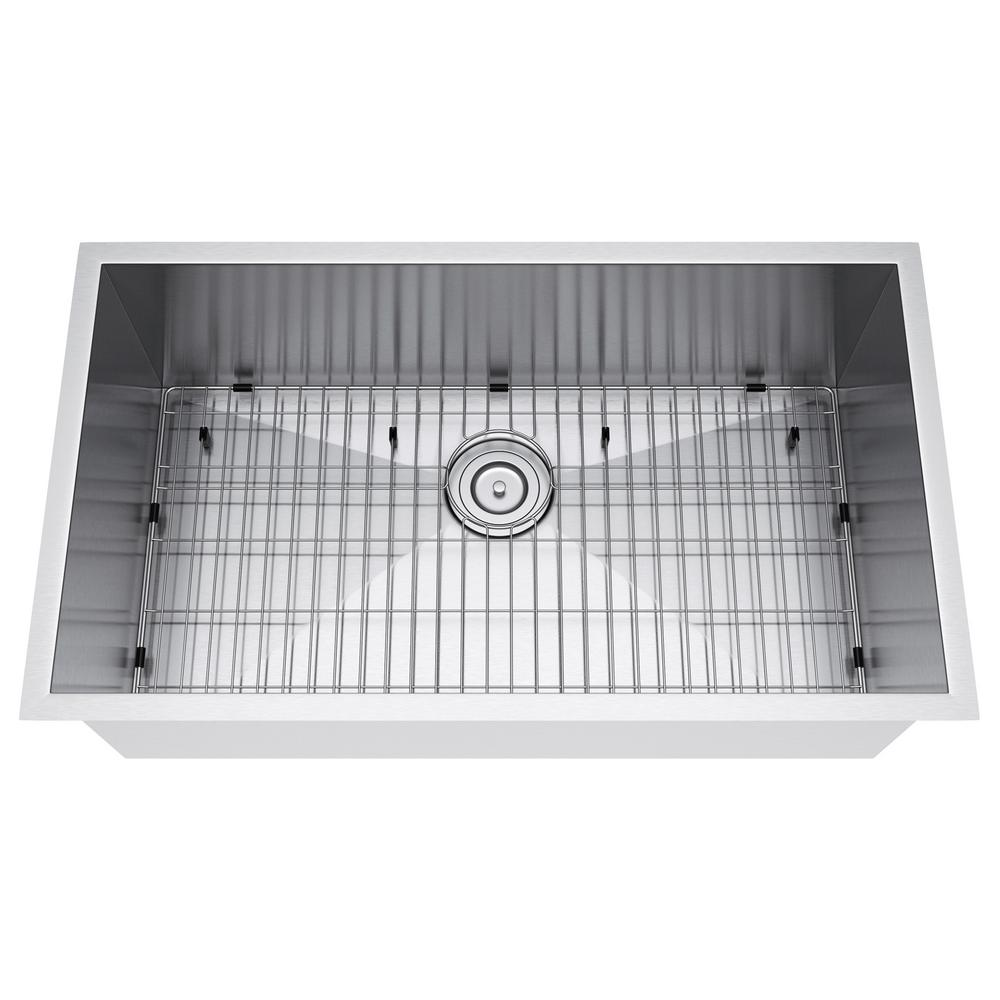 33x19 single bowl kitchen sink stainless steel exclusive heritage allinone undermount stainless steel 33 in single bowl kitchen in