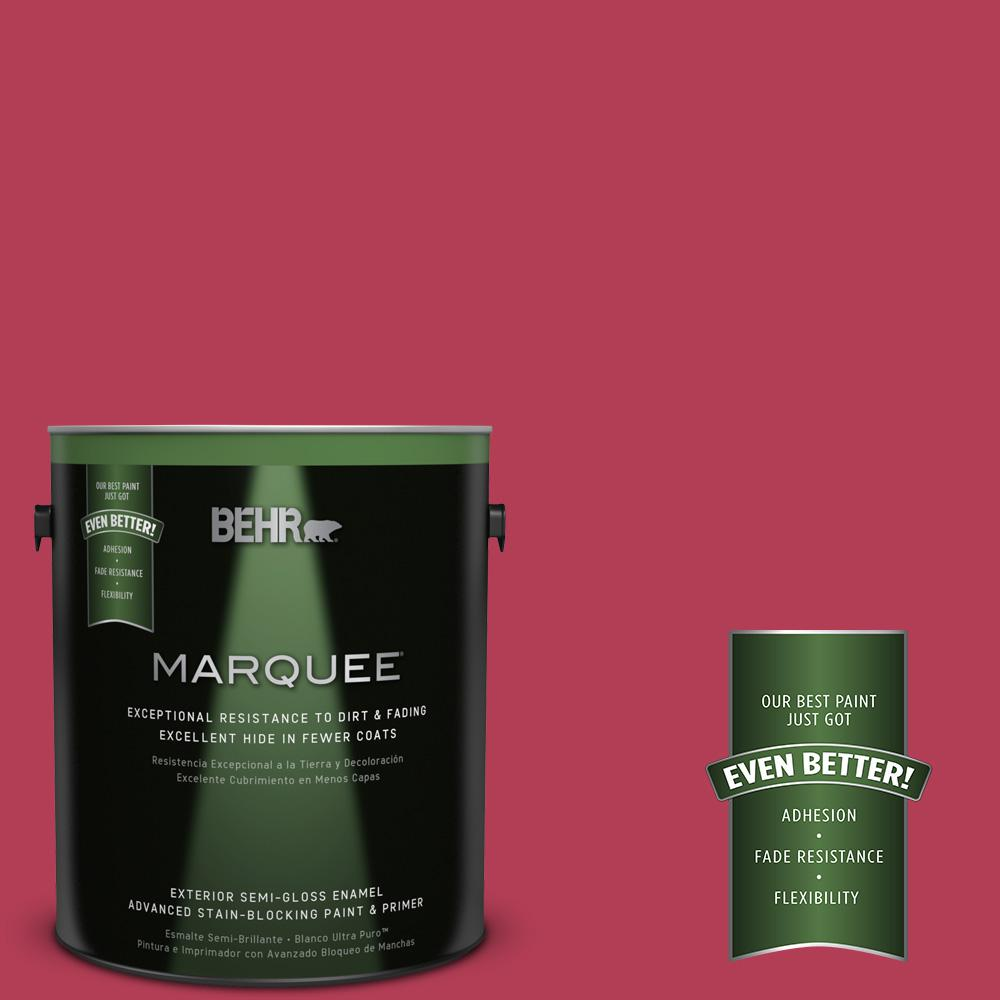BEHR MARQUEE 1-gal. #130B-7 Cherry Wine Semi-Gloss Enamel Exterior Paint