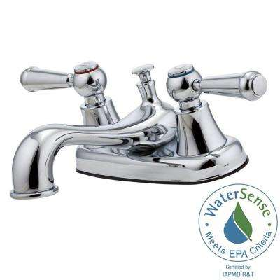 Pfirst Series 4 in. Centerset 2-Handle Bathroom Faucet in Polished Chrome