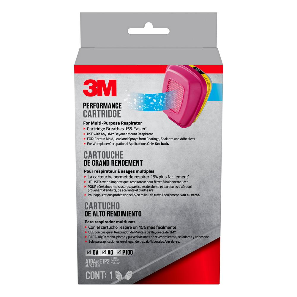 3M Professional Multi-Purpose Replacement Respirator Cartridges