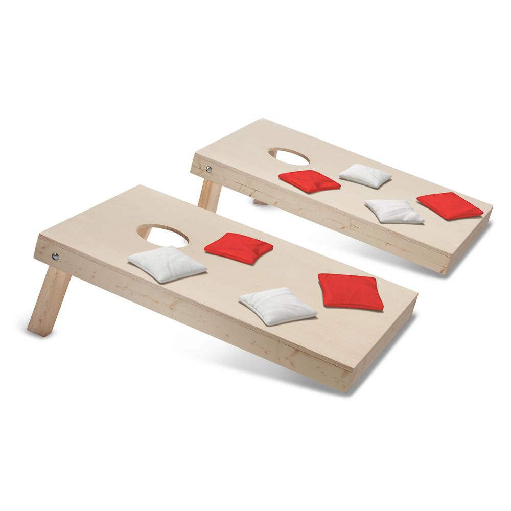 Take-And-Play Cornhole Toss Game Set with Red and White Bags