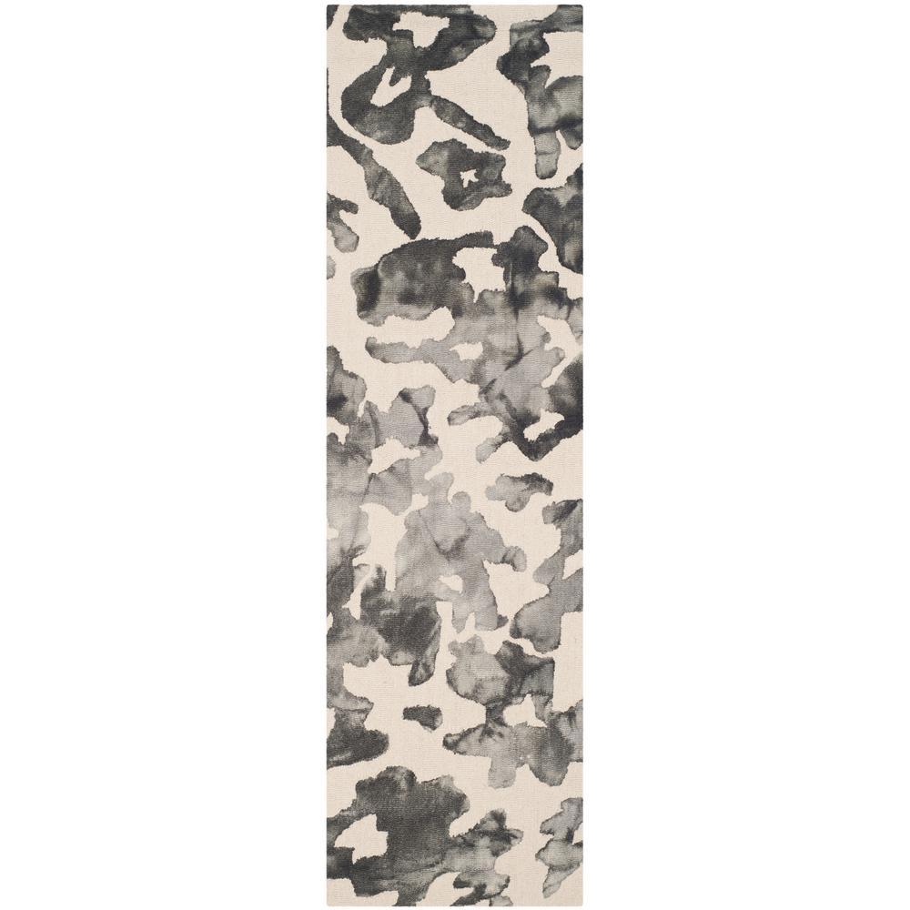 Dip Dye Beige/Charcoal 2 ft. x 8 ft. Runner Rug