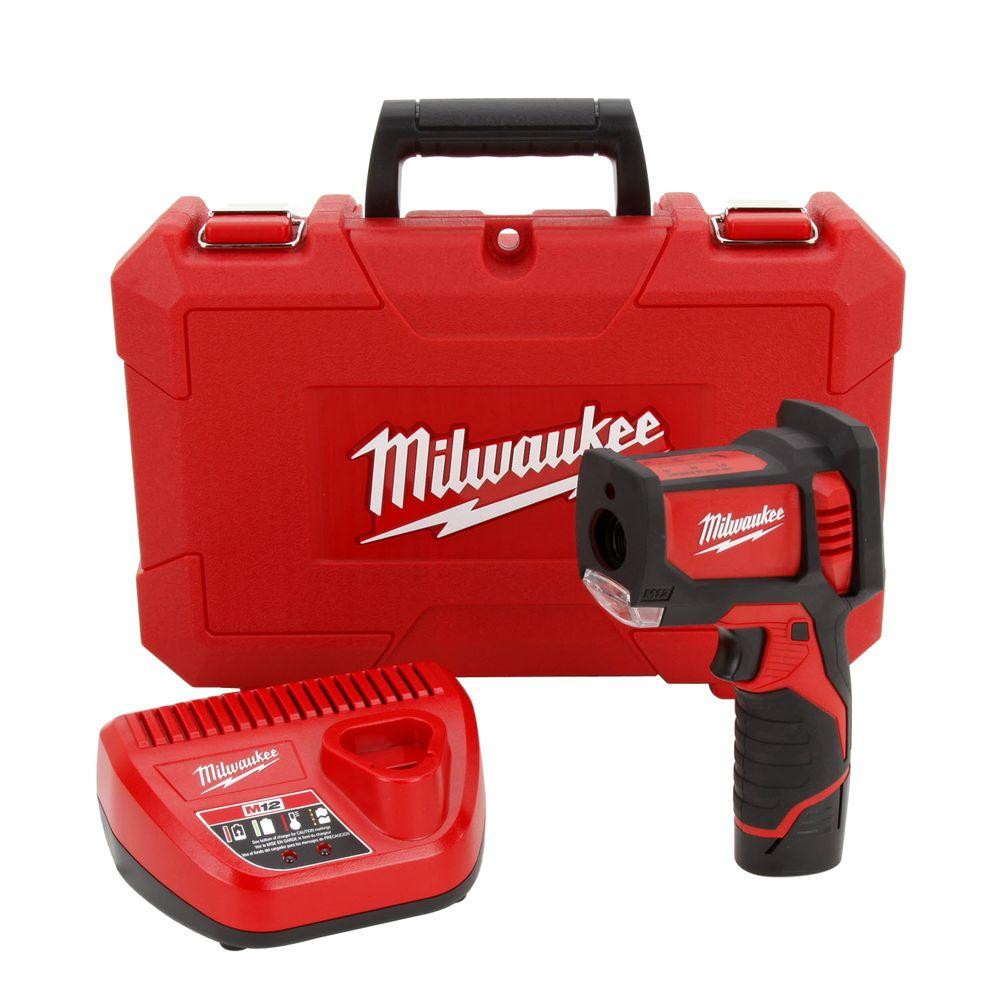 Milwaukee M12 12-Volt Lithium-Ion Cordless Laser Temperature Gun Kit