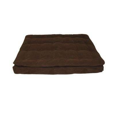 Large Chocolate Luxury Pillow Top Mattress Bed