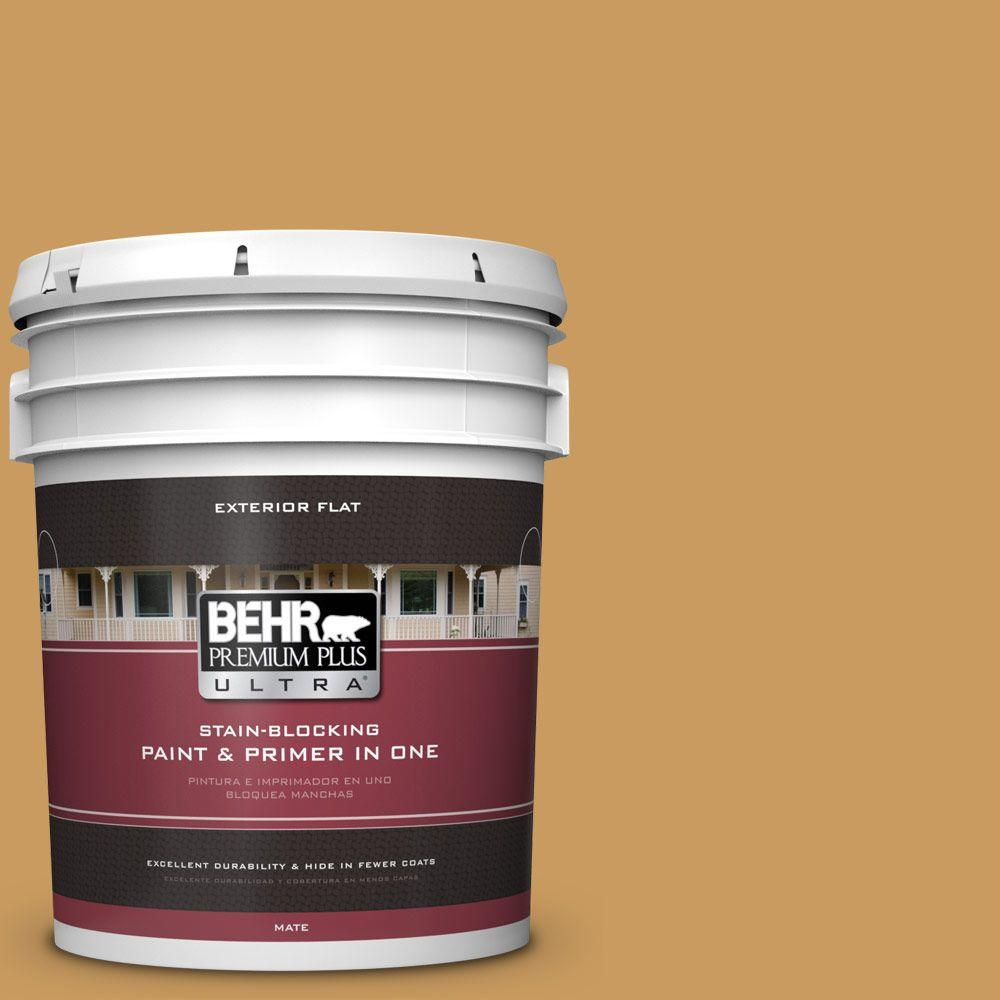 5-gal. #M280-6 Solid Gold Flat Exterior Paint