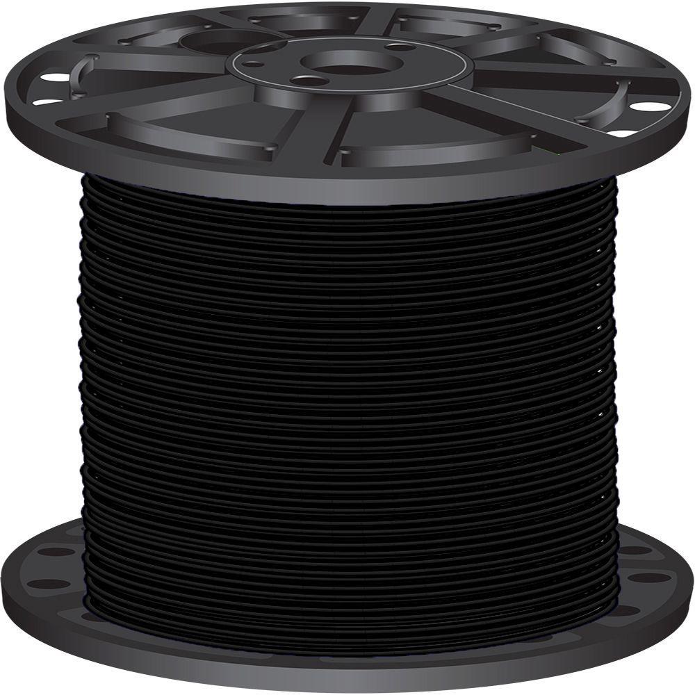 2,500 ft. 10 Black Stranded CU XHHW Wire