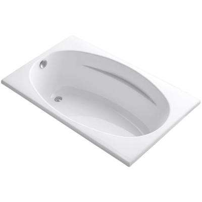 Proflex 5 ft. Reversible Drain Bathtub in White