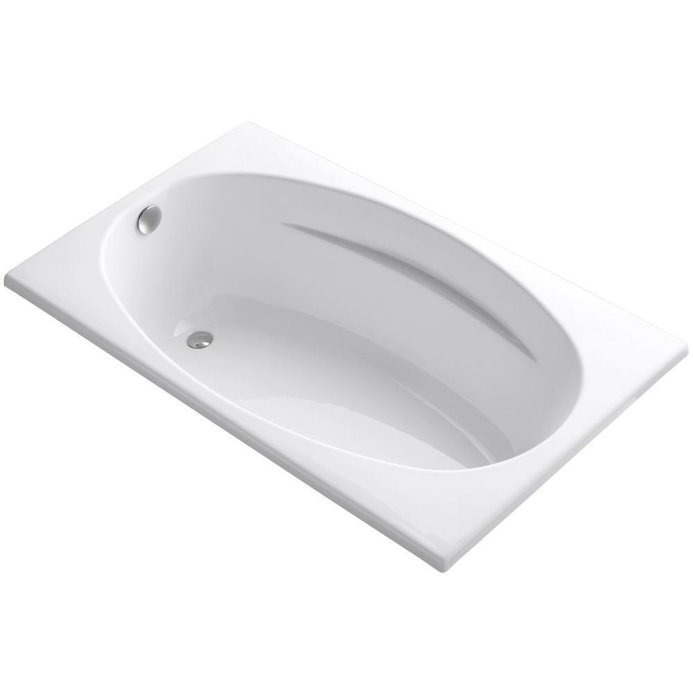 Proflex 5 ft. Reversible Drain Bathtub in White
