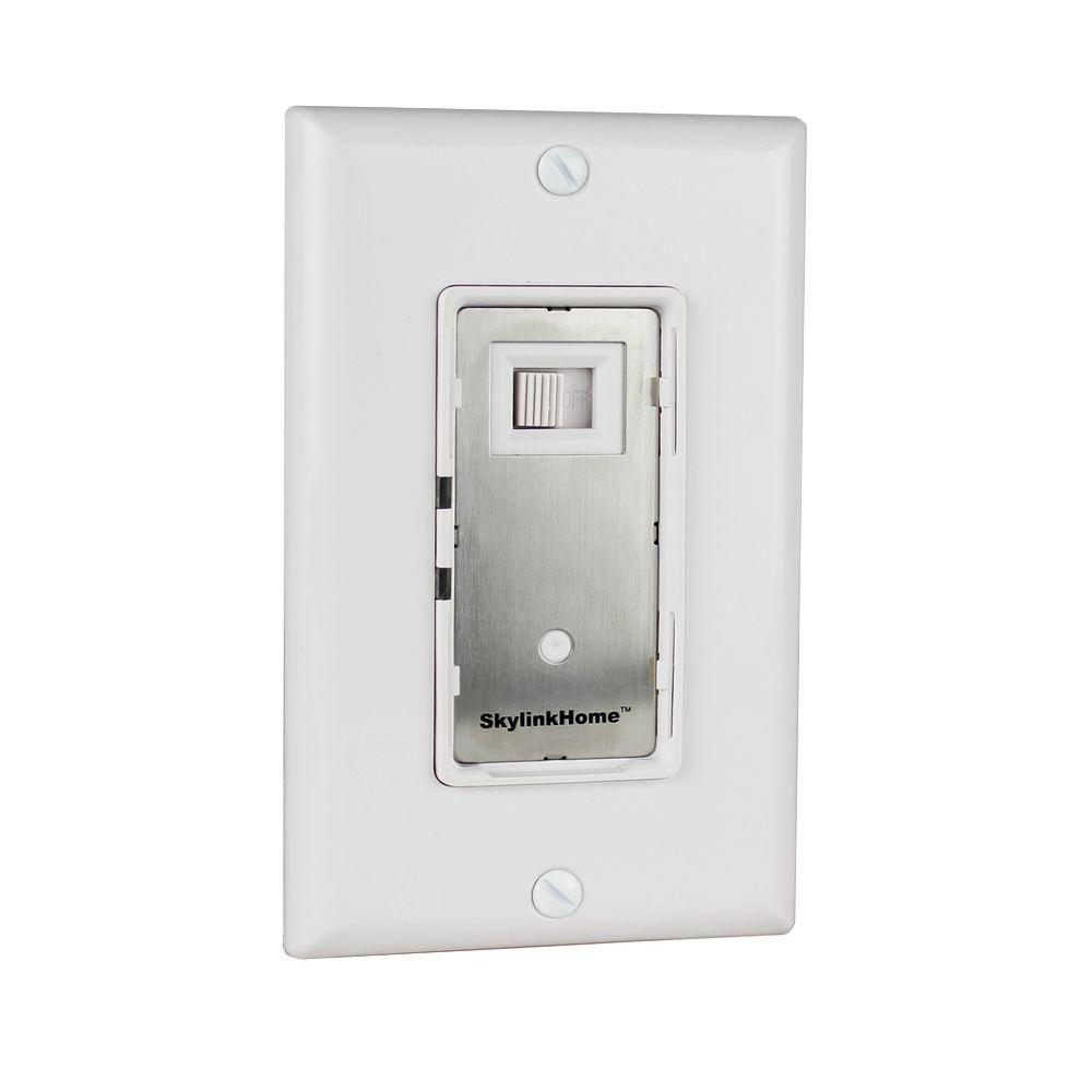 Skylink Dimmers Wiring Devices Light Controls The Home Depot Led Nightlight And Switch 600 Watt Specialty Dimmer Wall White