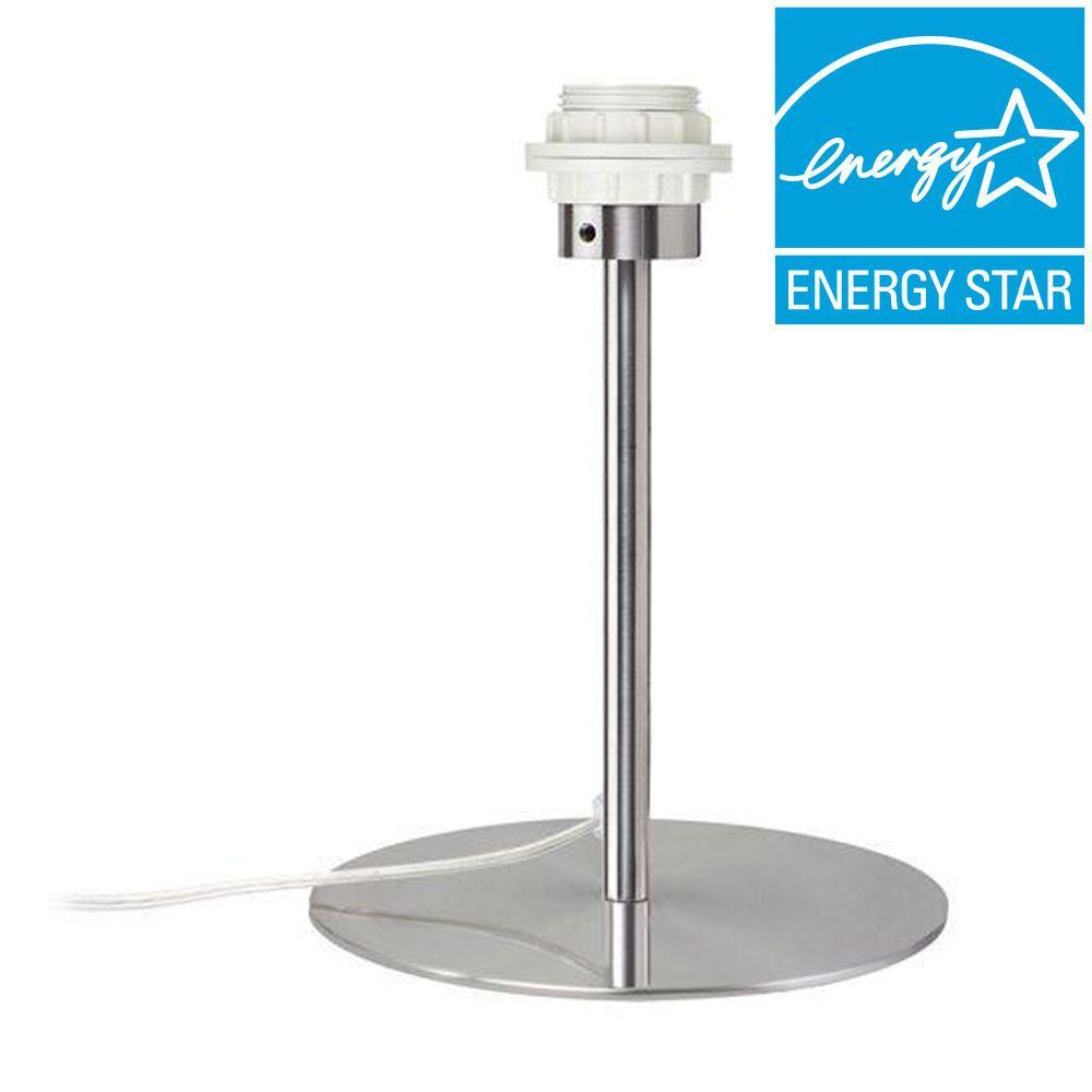 Paulmann 2Easy Basic 13.38 in. Brushed Nickel Single Table Lamp with GU24 Bulb
