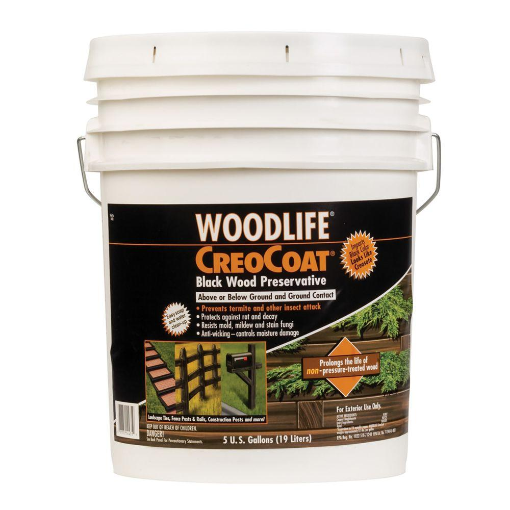 Wolman 5 Gal Creocoat Black Below Ground Wood Preservative 14435a The Home Depot