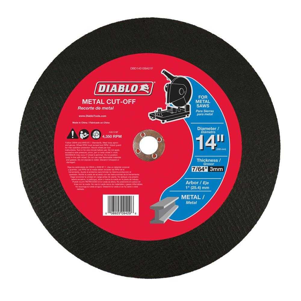Diablo 14 in. x 7/64 in. x 1 in. Metal Chop Saw Disc