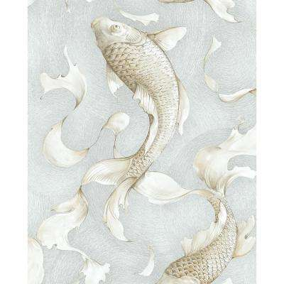 Koi Fish Vinyl Strippable Roll (Covers 30.75 sq. ft.)