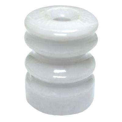 Multi-Groove Wood Post Ceramic Insulator with Nails