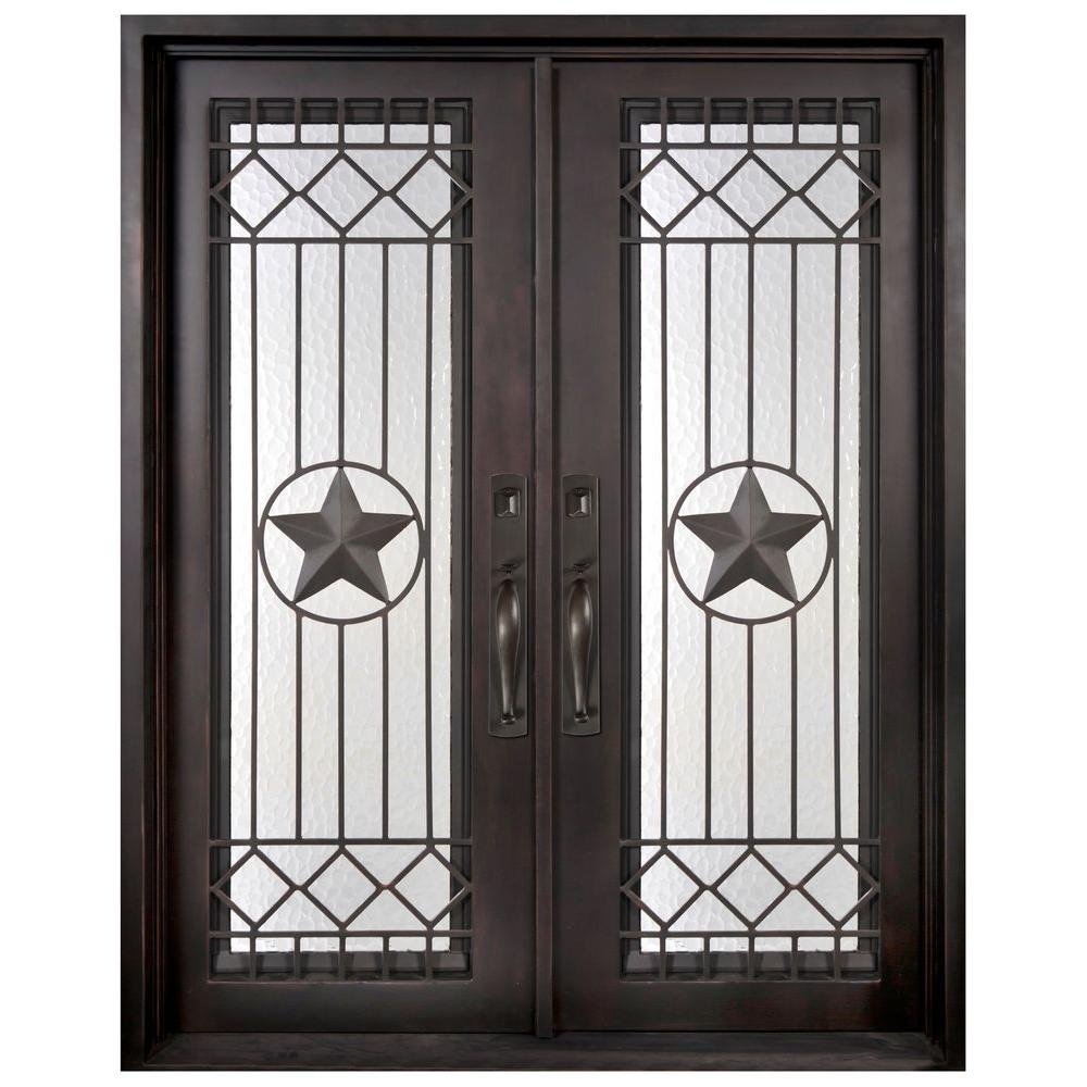 Iron Doors Unlimited 62 In. X 97.5 In. Texas Star Classic Full Lite Painted