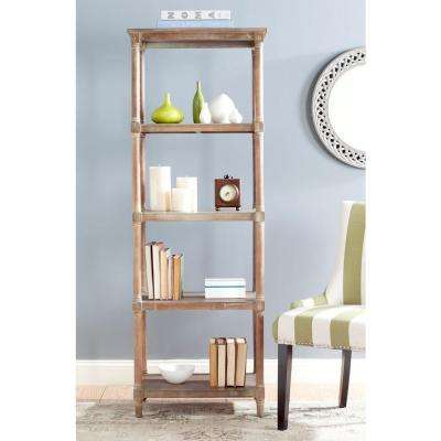 Odessa Washed Natural Pine Open Bookcase
