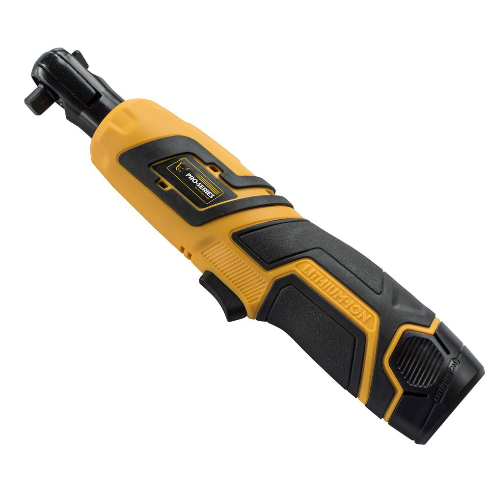 PRO-SERIES 3/8 in. 12-Volt Rechargeable Cordless Torque Ratchet Wrench