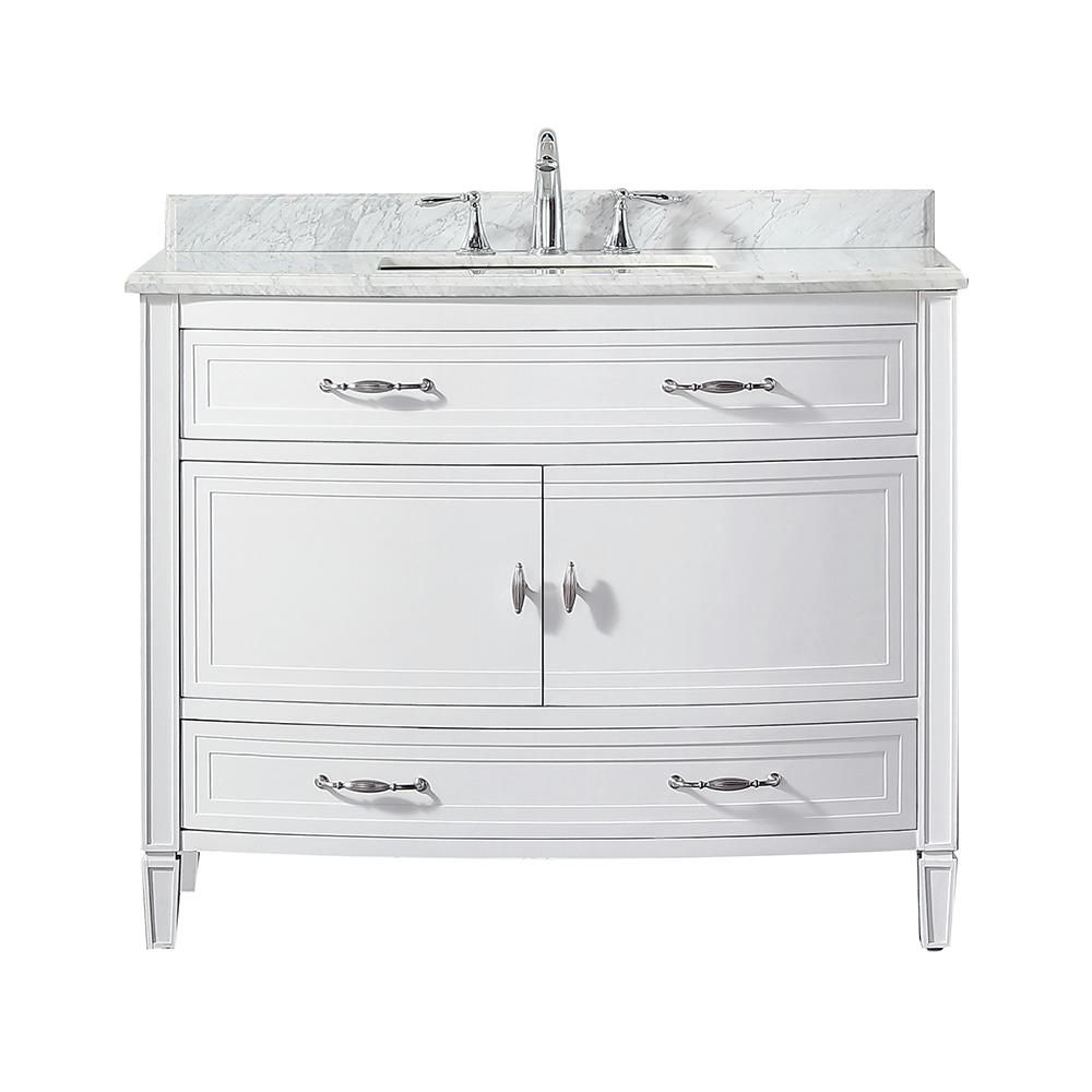 42 Vanity Home Depot.Home Decorators Collection Dacosti 42 In W X 22 In D Vanity In White With Marble Vanity Top In White With White Sink