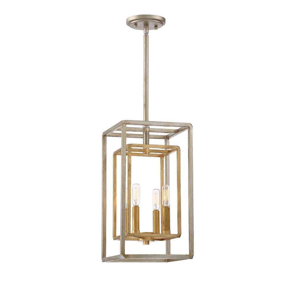 Filament Design 4-Light Argentum and Gold Pendant